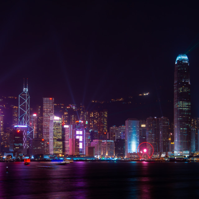 """Symphony of lights Hong Kong // Hong Kong, China"" stock image"