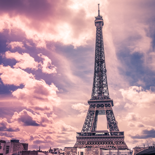 """Eiffel tower during the day // Paris, France"" stock image"