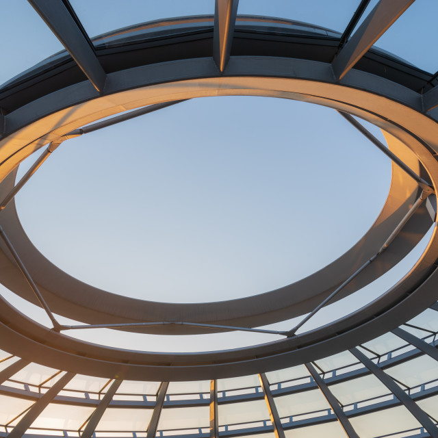 """Reichstag dome // Berlin, Germany"" stock image"