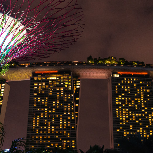 """Marina Bay Sands // Singapore, Singapore."" stock image"