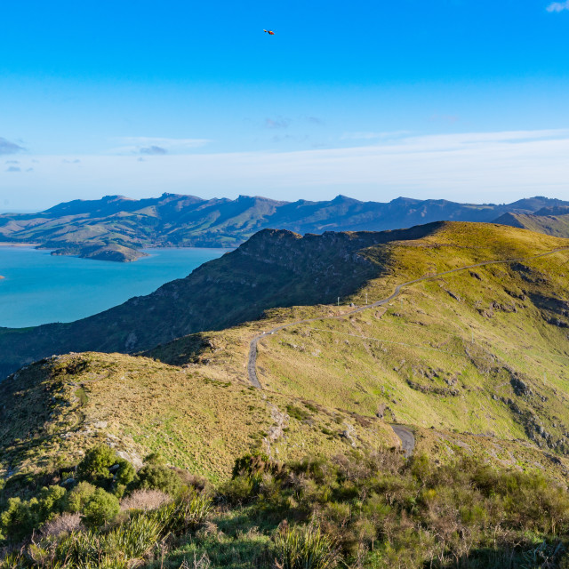 """Lyttelton Harbour // Christchurch, New Zealand"" stock image"