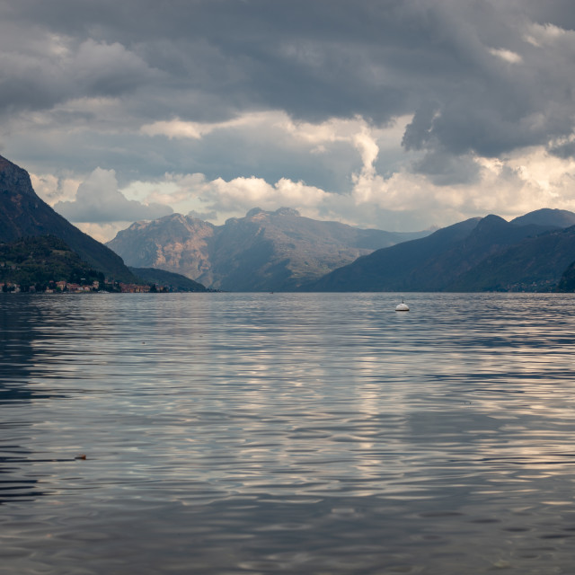 """Reflections of Lake Como // Lake Como, Italy"" stock image"