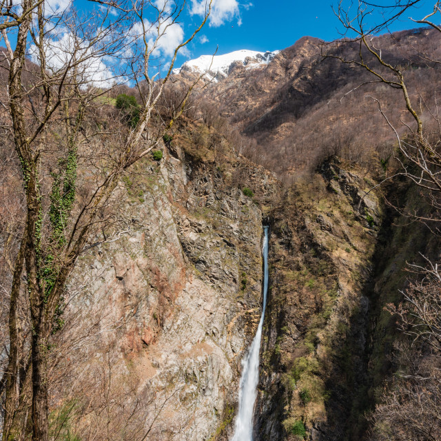 """""""Cascata della Troggia // Introbio, Italy"""" stock image"""