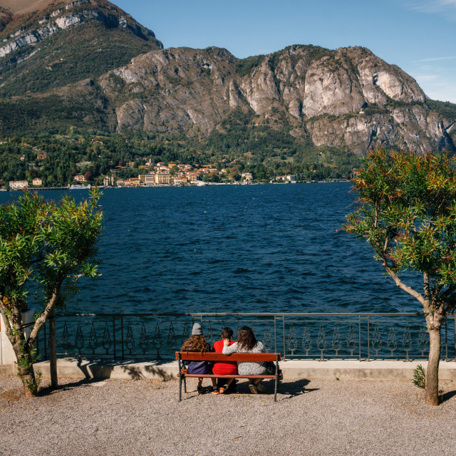 """""""Cadenabbia on coast of Como lake, Italy."""" stock image"""