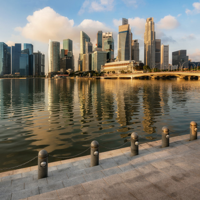 """Singapore business district with skyscrapers, Singapore."" stock image"