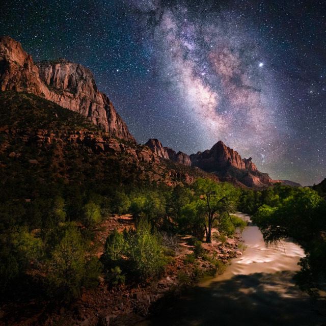 """""""Milky Way at Zion National Park"""" stock image"""