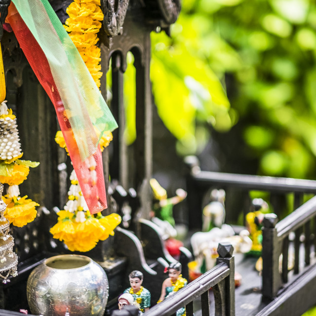 """Buddist Altar in Thailand"" stock image"