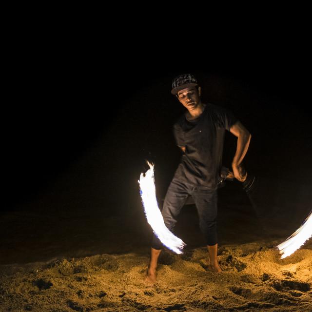 """Thailand Fire Dancer"" stock image"