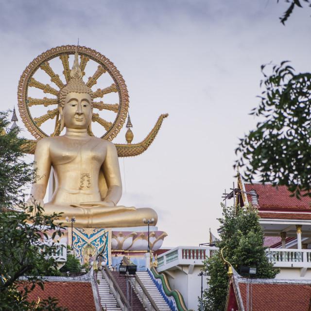 """""""Wat Phra Yai or Big Buudah"""" stock image"""