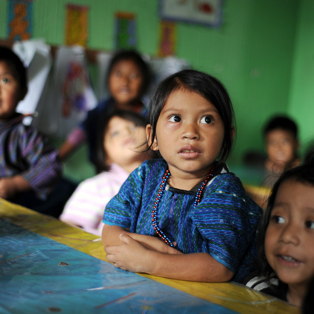 """Guatemala indigenous children in San Antonio Palopo"" stock image"