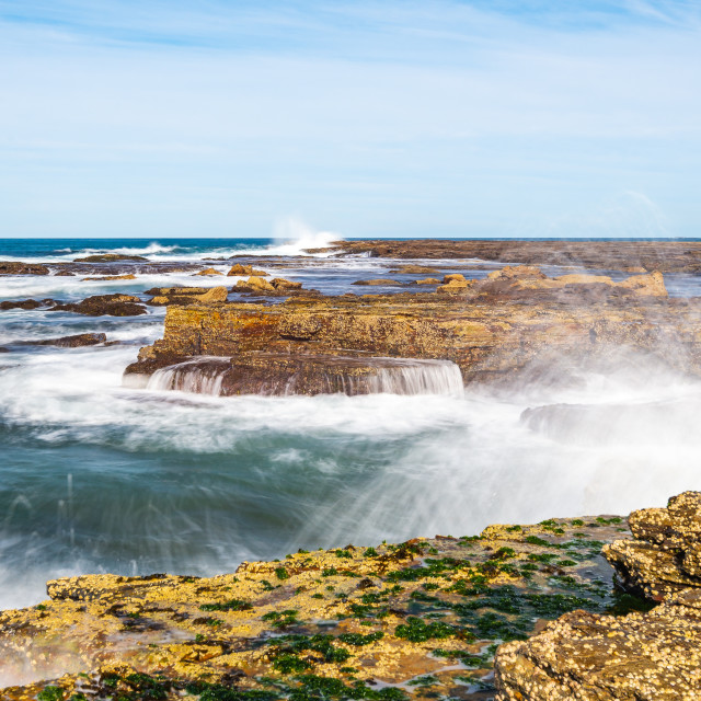 """Swirling ocean of Turimetta Beach // Sydney, Australia"" stock image"