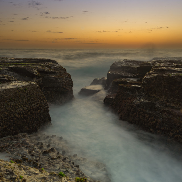 """Narrabeen gorge at dawn // Sydney, Australia"" stock image"