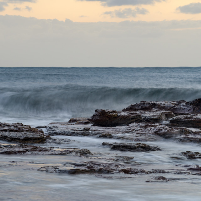 """Early morning surf swell off Collaroy // Sydney, Australia"" stock image"