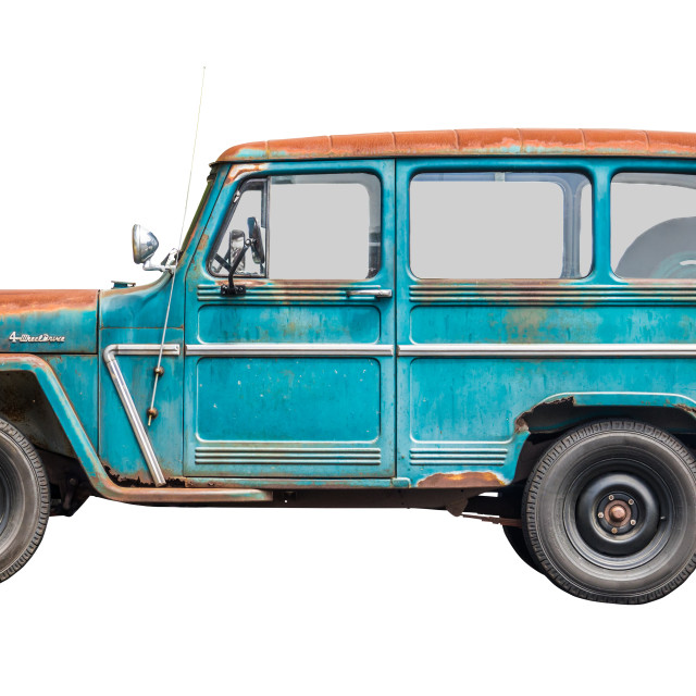 """Isolated Vintage Station Wagon"" stock image"