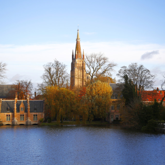 """Church of Our Lady, Bruges"" stock image"