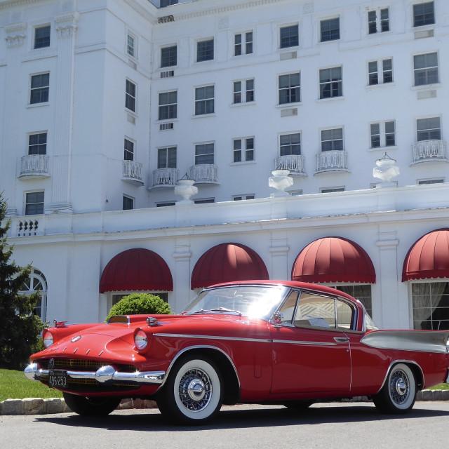 """""""Oldtimer at Greenbrier Resort"""" stock image"""