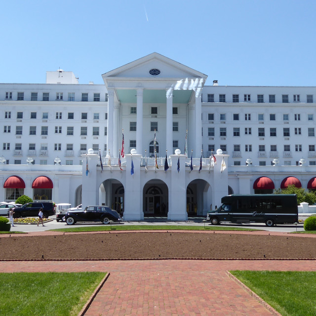 """The Greenbrier Resort"" stock image"