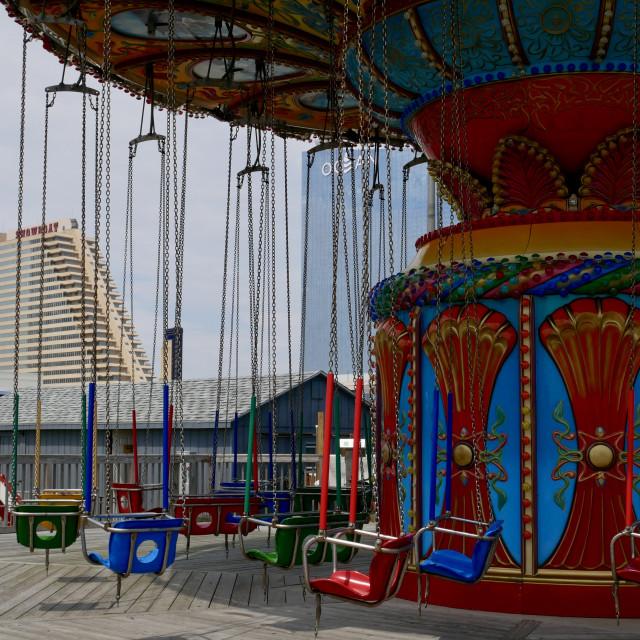 """Steel Pier Atlantic City"" stock image"