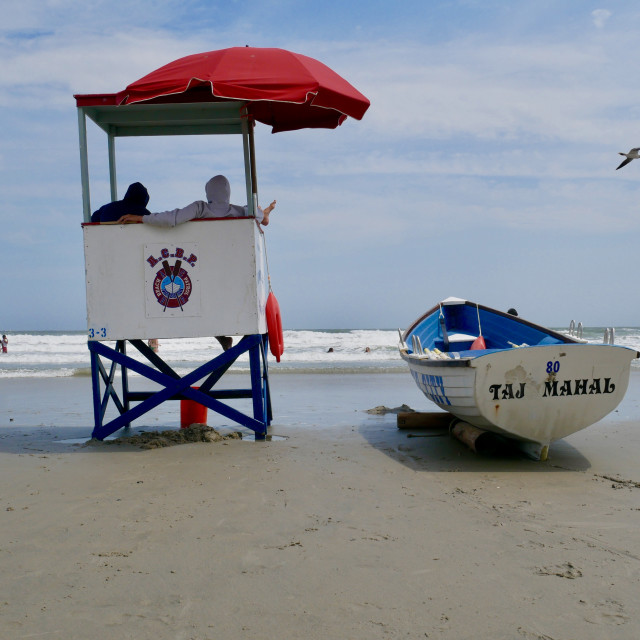 """Baywatch at Jersey Shore"" stock image"