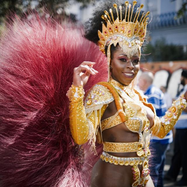 """Dancer #2 - Notting Hill Carnival 2019"" stock image"