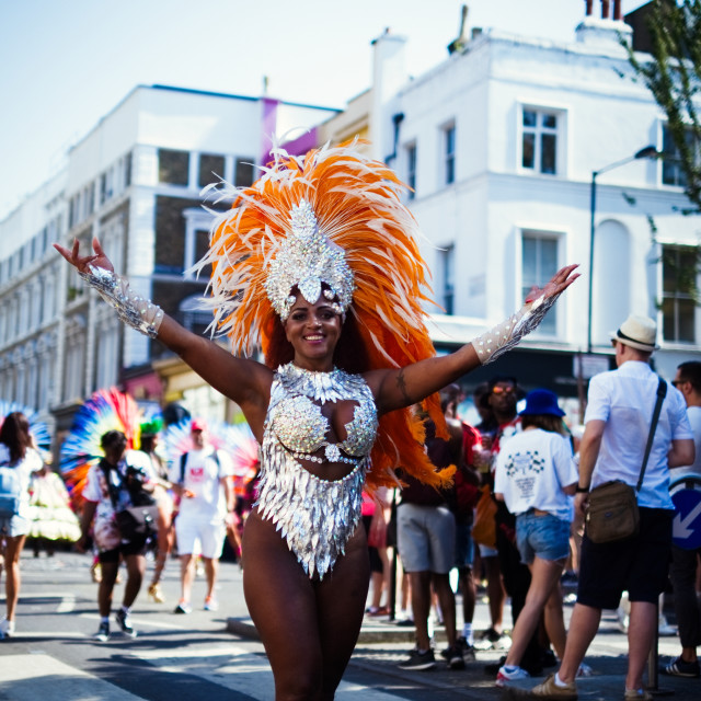 """Dancer #3 at Notting Hill Carnival"" stock image"