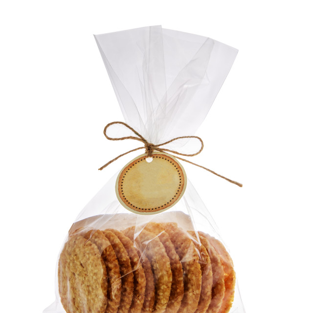 """""""Cookies in package isolated on white background. Sweet biscuits."""" stock image"""