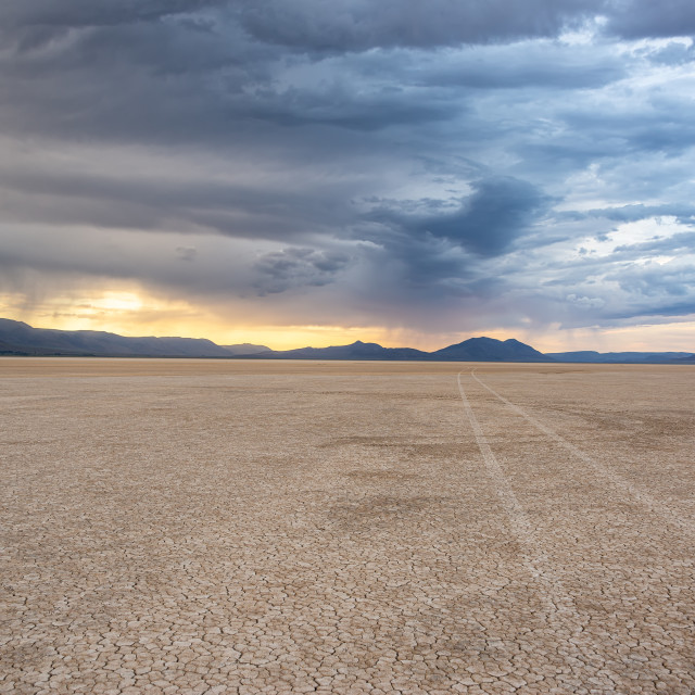 """Alvord Desert at Sunset"" stock image"