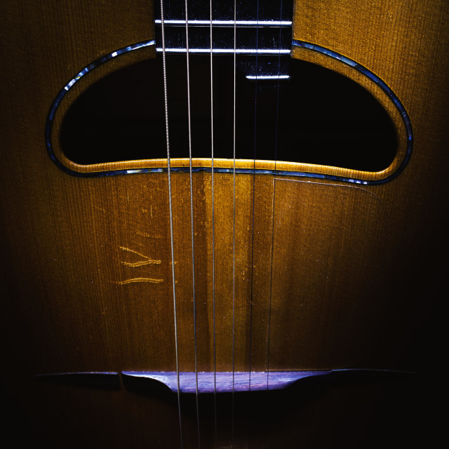 """Body of Gypsy Jazz Guitar"" stock image"
