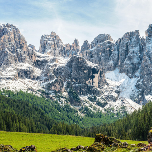 """""""late summer on the Dolomites"""" stock image"""