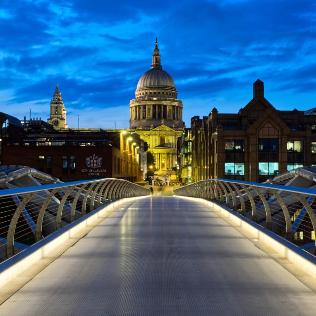 """""""Millennium Bridge and St Pauls"""" stock image"""