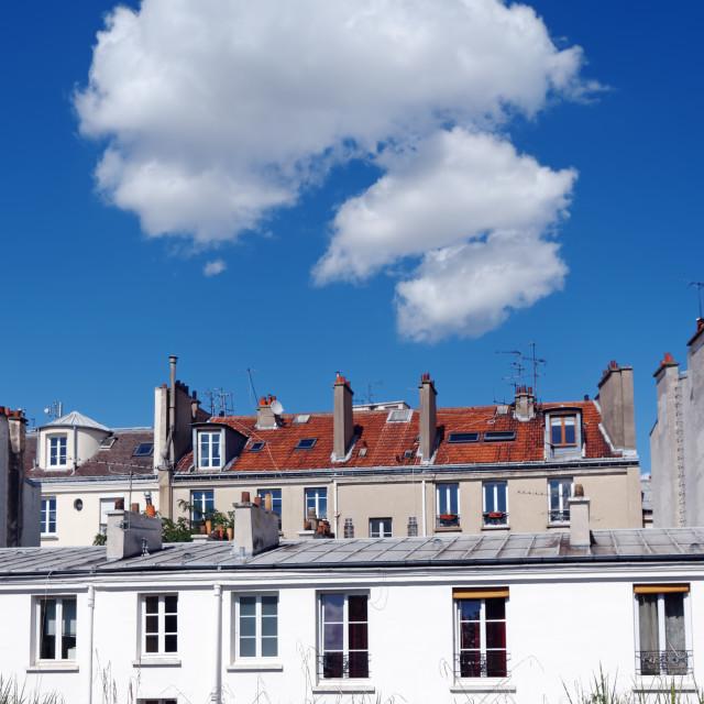 """""""three clouds on Paris"""" stock image"""