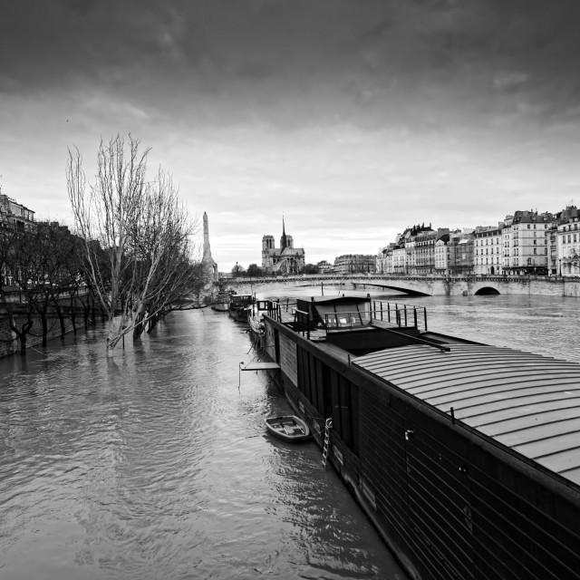 """Seine river flood"" stock image"