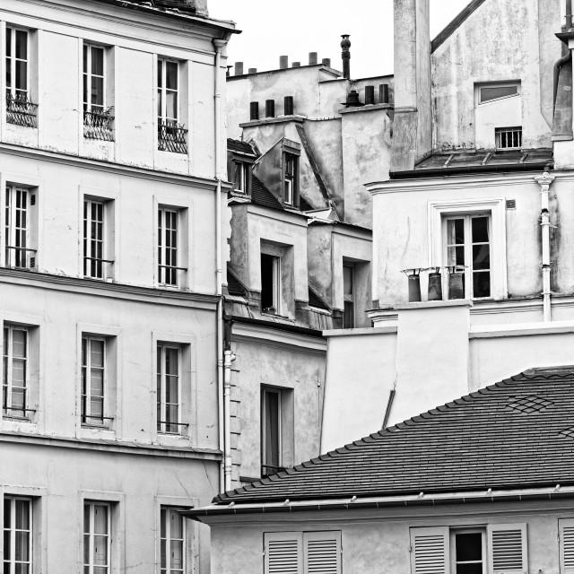 """Paris old facade"" stock image"