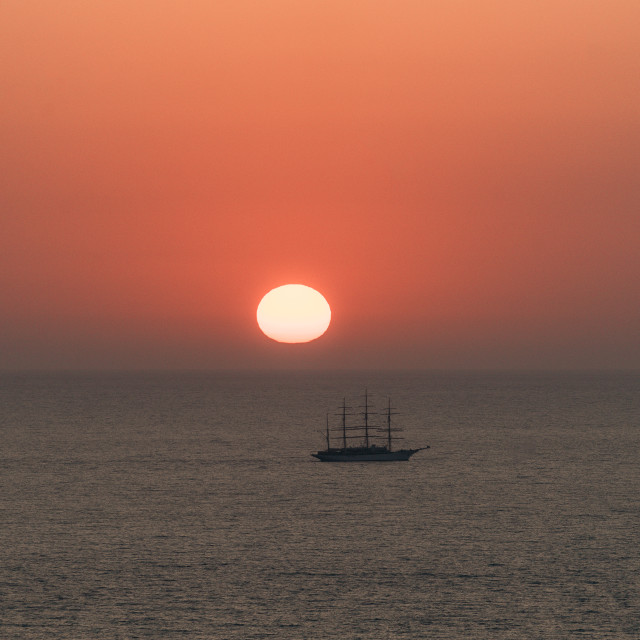 """Sunset in Greece, at Porto Katsiki"" stock image"
