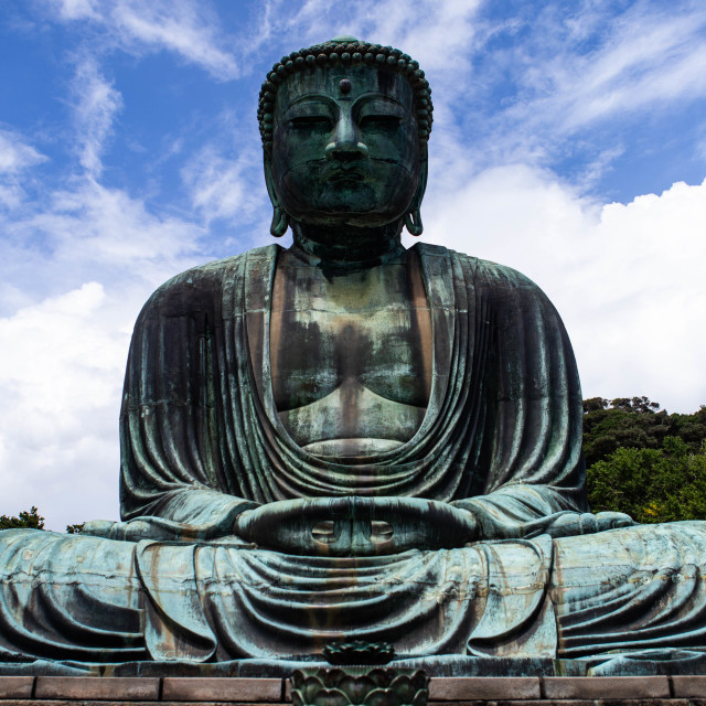 """Great Buddha of Kamakura Japan"" stock image"