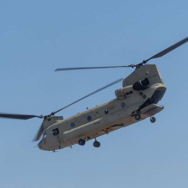 """""""Australian Army Chinook on display at Avalon Airshow 2019 // Mel"""" stock image"""