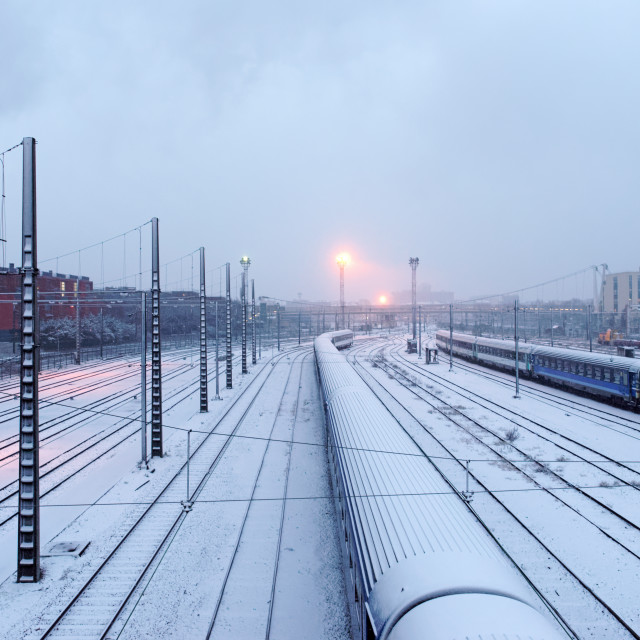 """Suburban train"" stock image"