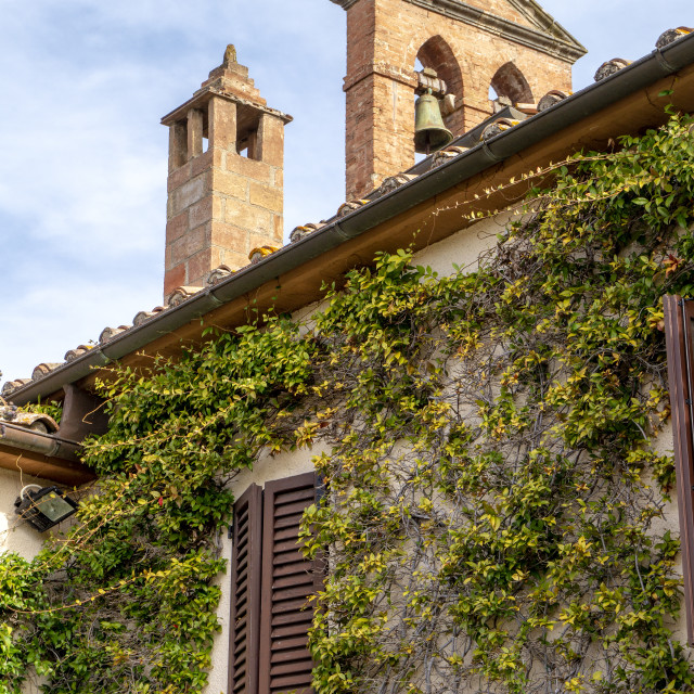 """Tuscan Building"" stock image"