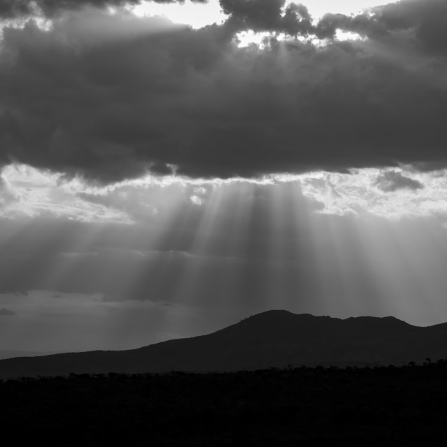 """""""Rays from above"""" stock image"""