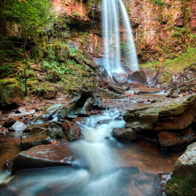 """Melincourt Waterfall"" stock image"
