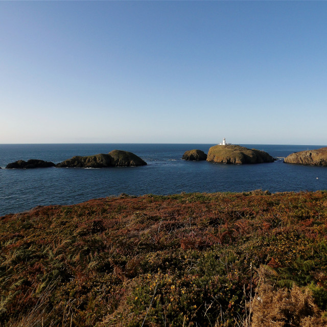 """""""Strumble Head on an August evening"""" stock image"""