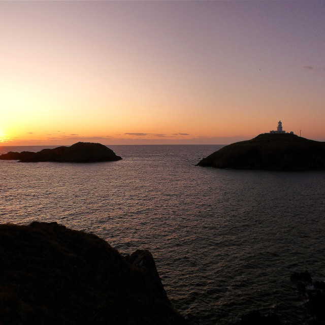 """""""Strumble Head at sunset"""" stock image"""