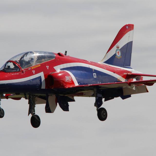 """""""RAF Hawk T1 XX278 at RAF Fairford"""" stock image"""
