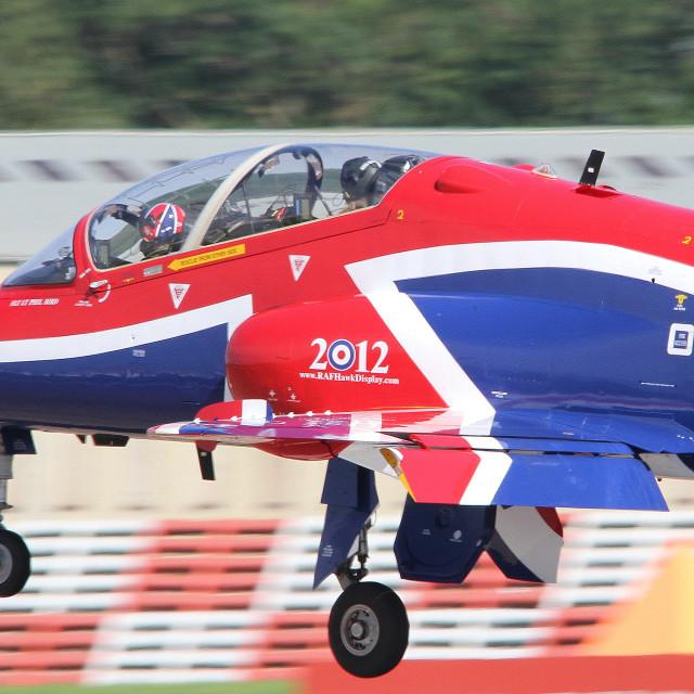 """""""RAF Hawk T1 XX278 at RAF Fairford ii"""" stock image"""
