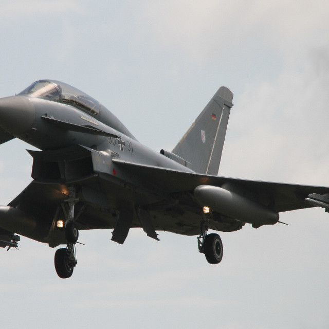 """""""Lufftwaffe Eurofighter Typhoon S 31+30 at Fairford"""" stock image"""