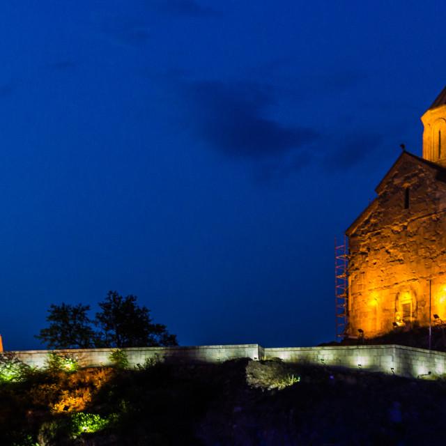"""Metekhi Church, Tbilisi."" stock image"