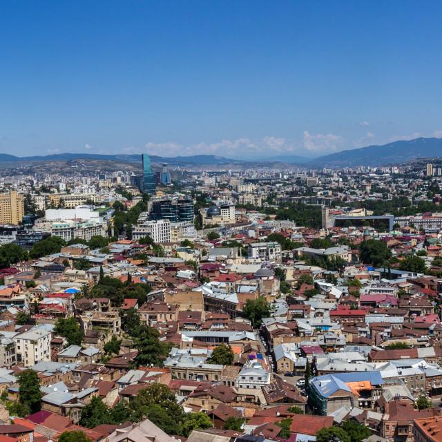 """Tbilisi panorama"" stock image"