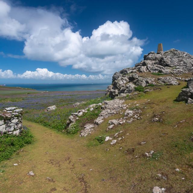 """Skomer Island rocky landscape"" stock image"