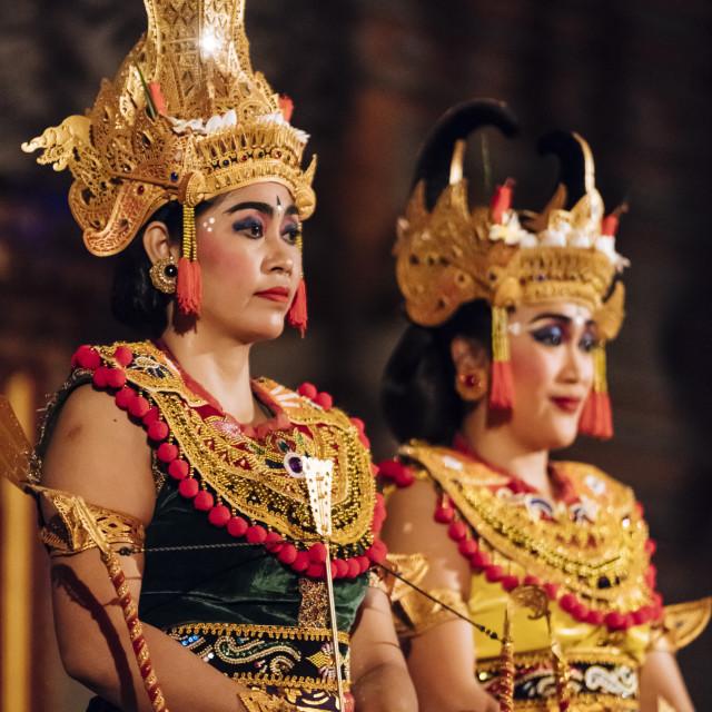"""""""Traditional Balinese Dance Performance, Ubud, Bali, Indonesia"""" stock image"""
