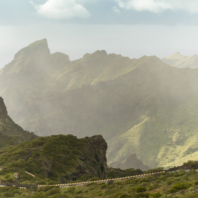 """Masca, a part of the El Teide national park in Tenerife"" stock image"